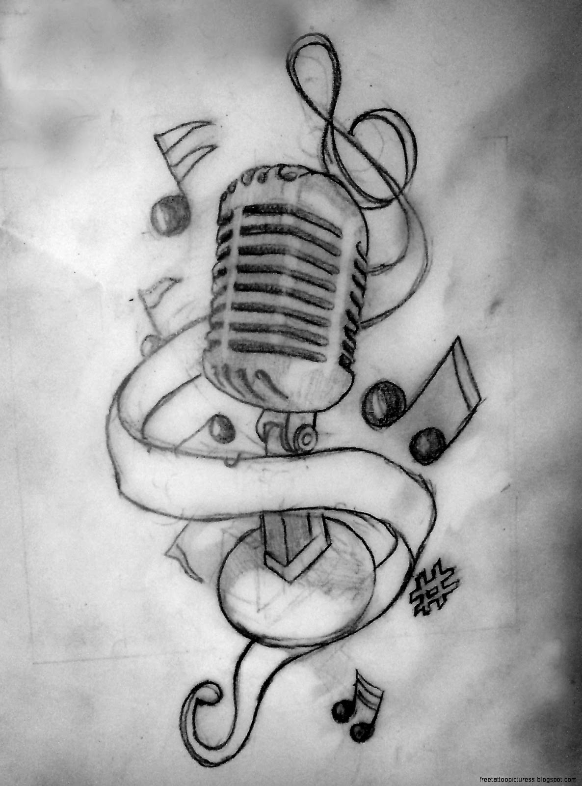 all tattoo design music tatoo