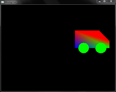 OpenGL code for making moving Car