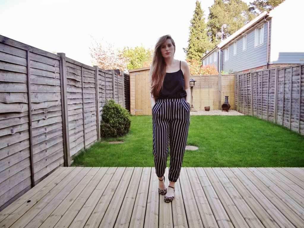 glamorous striped trousers