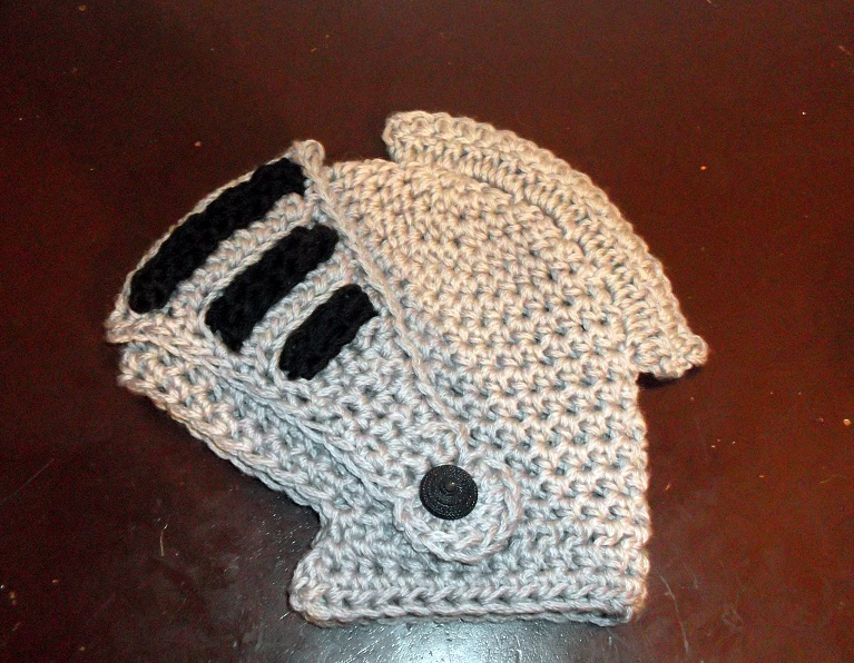 Free Crochet Pattern For Helmet Hat : Cute Designs: Knight Helmet photos