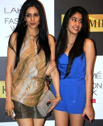 Jahnavi Kapoor in Blue Short Dress - Sridevi Daughter Jahnavi Kapoor Pics in blue Dress