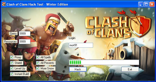Clash Of Clans Hack & Cheat 2014 - Coin -Elixir - Gems and Other