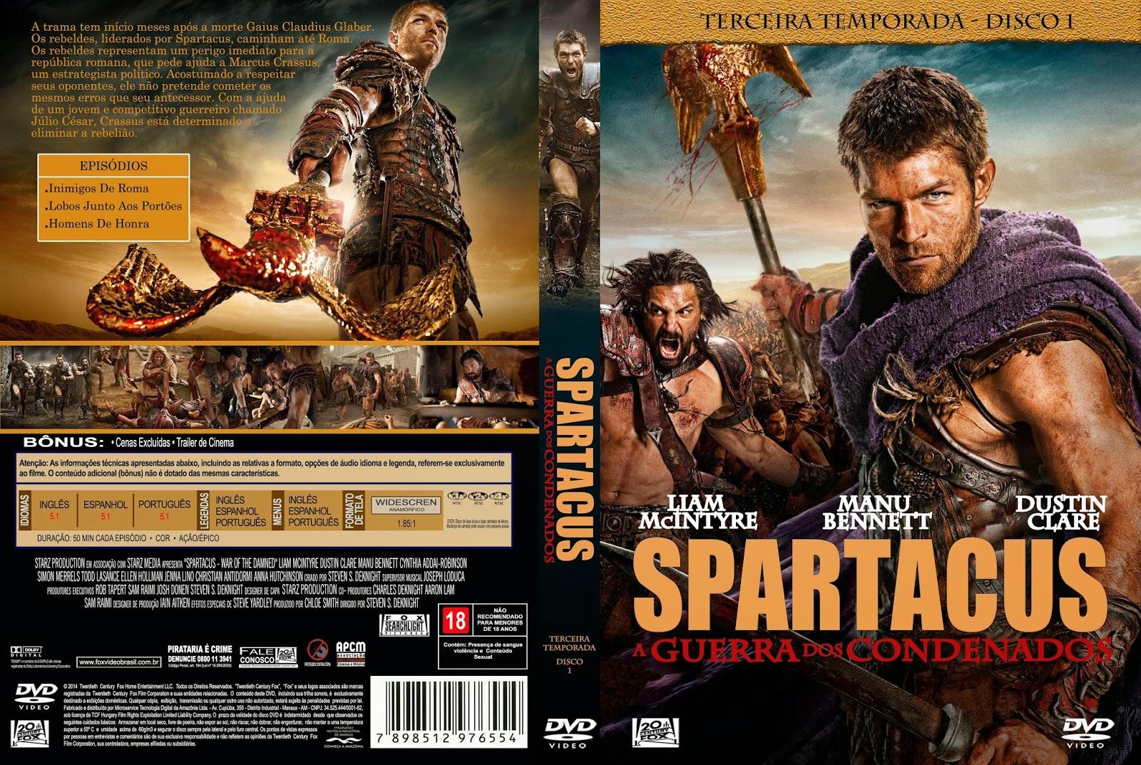 Filme Spartacus with regard to spartacus a guerra dos condenados - temporada 03 - capas de filmes