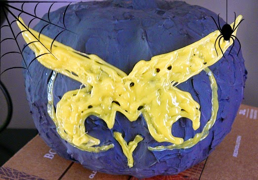 owl pumpkin made with mod podge