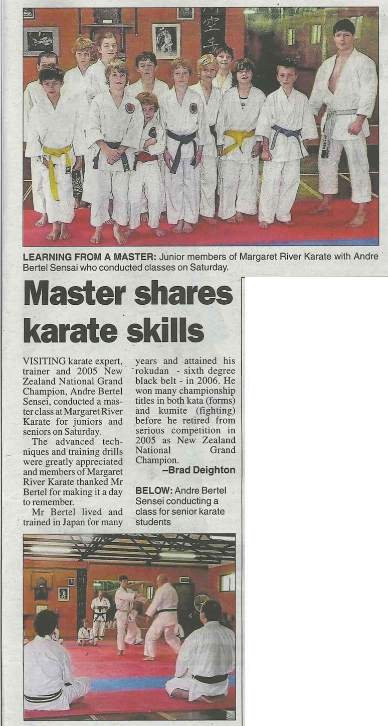 Margaret river karate
