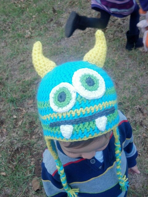 The Knitless Knitter Crochet Monster Hat Free Eyes And Teeth Patterns