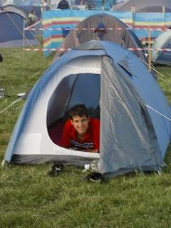 camping del circuito de Donington Park
