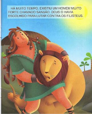 Sansão mata um leão
