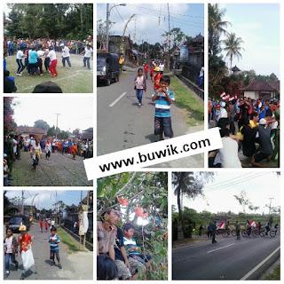 Perayaan HUT RI di Desa Pangsan berlangsung dengan penuh kegembiraan