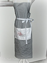 Classic navy and white French Bistro Apron