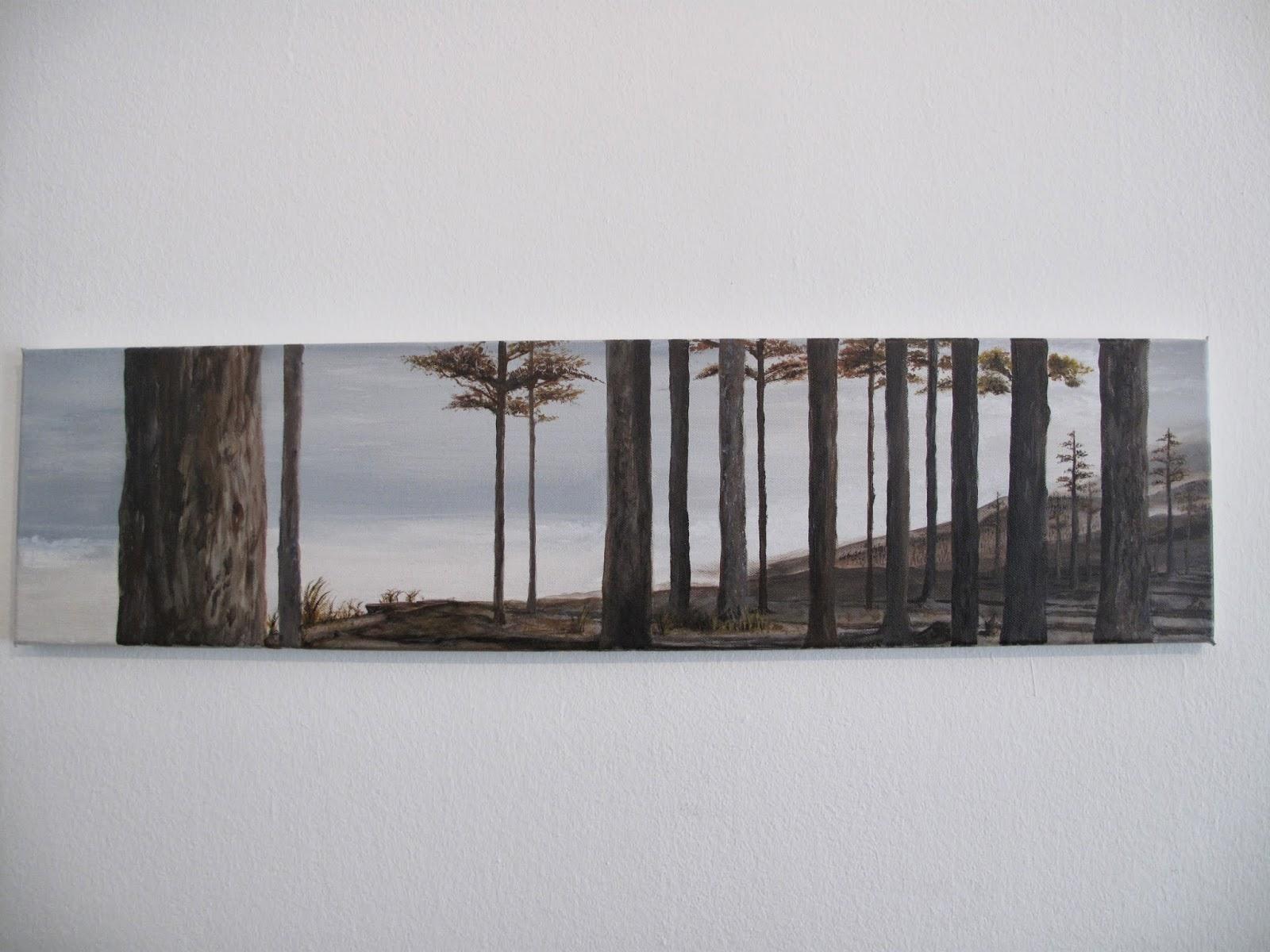 Ruhende Natur. 20x80. Acryl auf Leinwand. Januar 2014