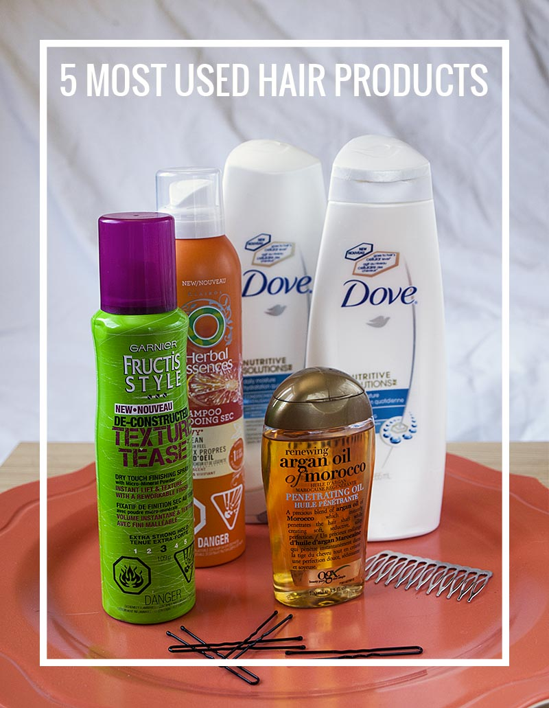 My 5 most used hair products right now