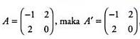 Contoh matriks simetri