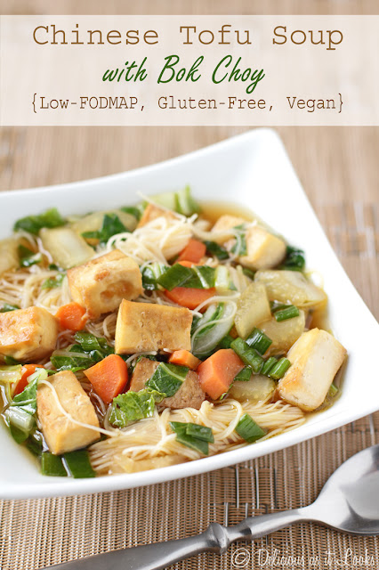 Chinese Tofu Soup with Bok Choy {Low-FODMAP, Gluten-Free, Vegan}  /  Delicious as it Looks