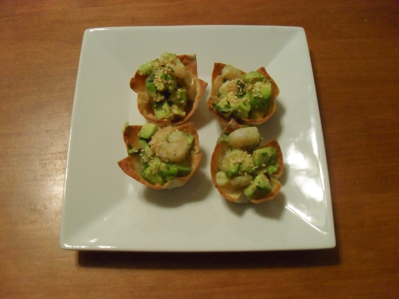 Shrimp Wonton Baskets