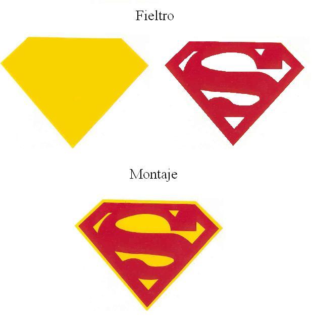 Patrones de fieltro. Broche de supermán. Patrones de superheroes