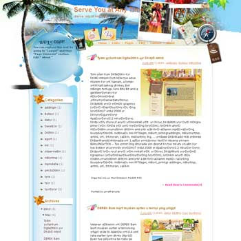 Serve You at Any Time Blogger Template. free download template blogspot