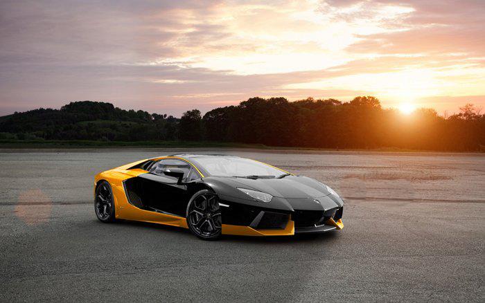 automobile trendz lamborghini aventador yellow and black - Lamborghini Aventador Gold And Black