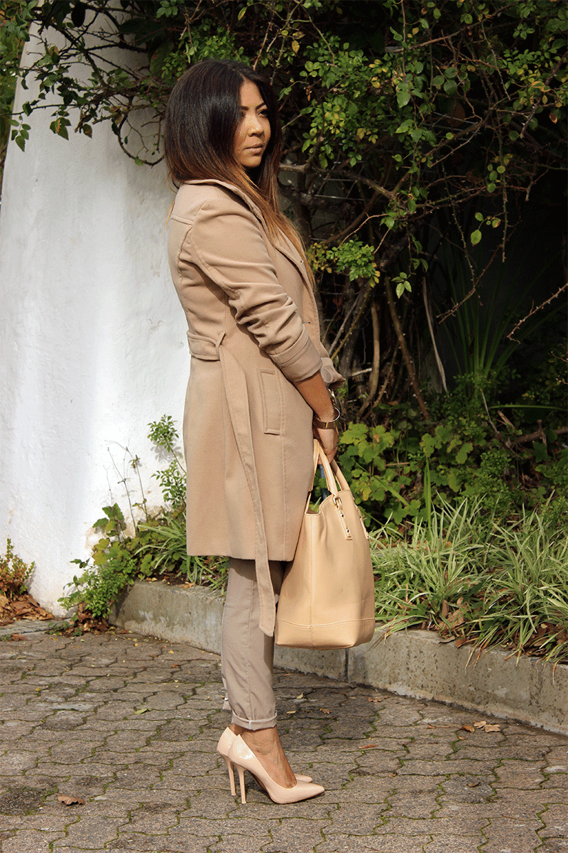 camel coat, camel coat ootd, stripes, winter nudes, zara nude heels, zara nude bag, ombre hair long, fashion blogger cape town