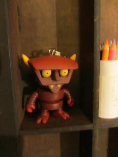 kidrobot robot devil keychain