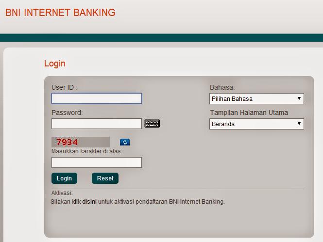 Cara Menganti Password Internet Banking BNI