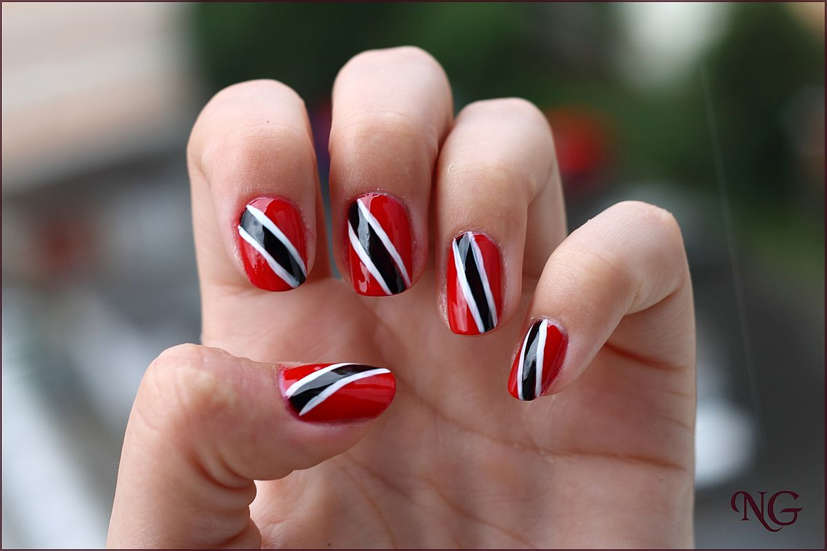 Trinidad Flag Nail Design | Best Nail Designs 2018