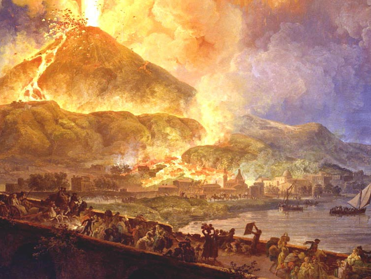 the history of the eruption of mount vesuvius and the destruction of the city of pompeii Eruption of mount vesuvius begins mount vesuvius near pompeii , italy, begins to erupt on this day in the year 79 within the next 25 hours, it wipes out the entire town.
