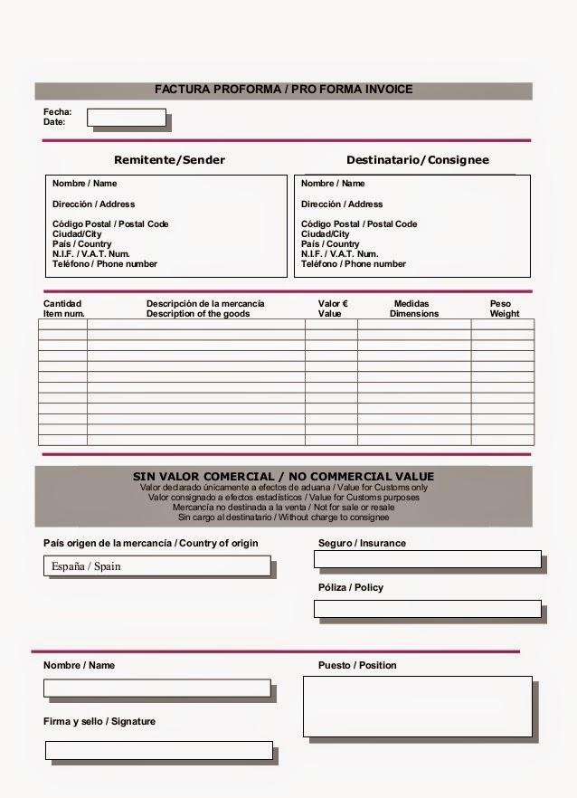 proforma invoice s proforma invoice blanker org