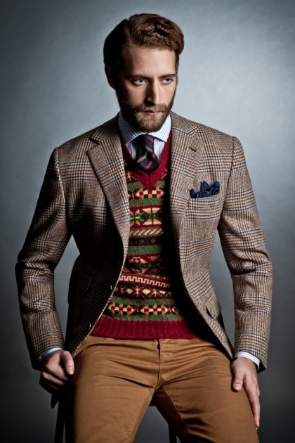 Mens Sweater And Tie