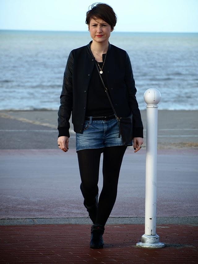 short jean, h&m, look femme, blog mode lille, fashion blog, bogger