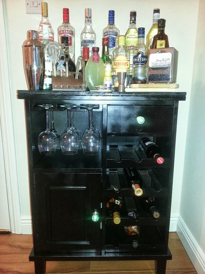 Dublinia Drinks Cabinet Home Bar DIY Project