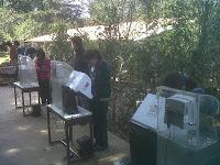 Urnas electrónicas en Mazamitla