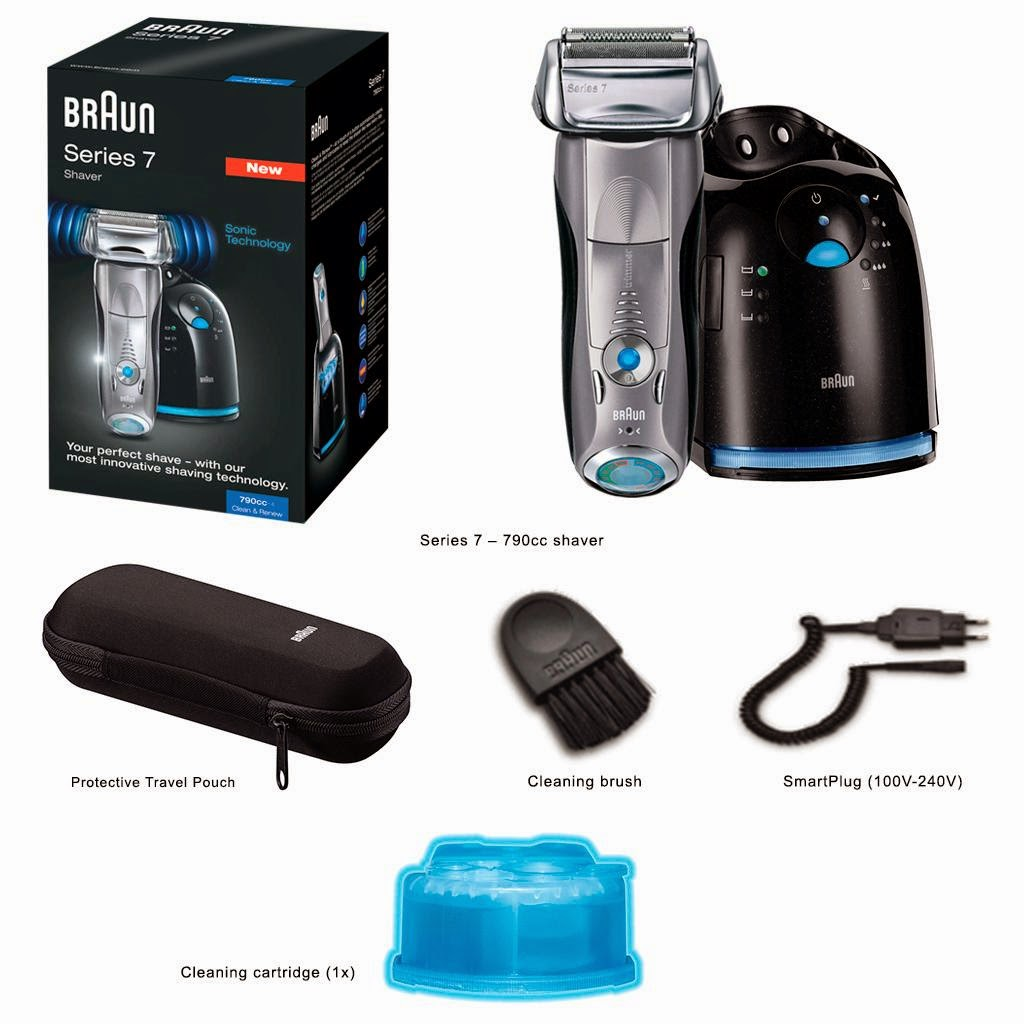 Braun Series 7 790cc Pulsonic Electric Shaver with Cleaning Center