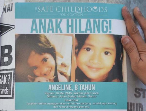 Foto Angeline Tewas Dibunuh