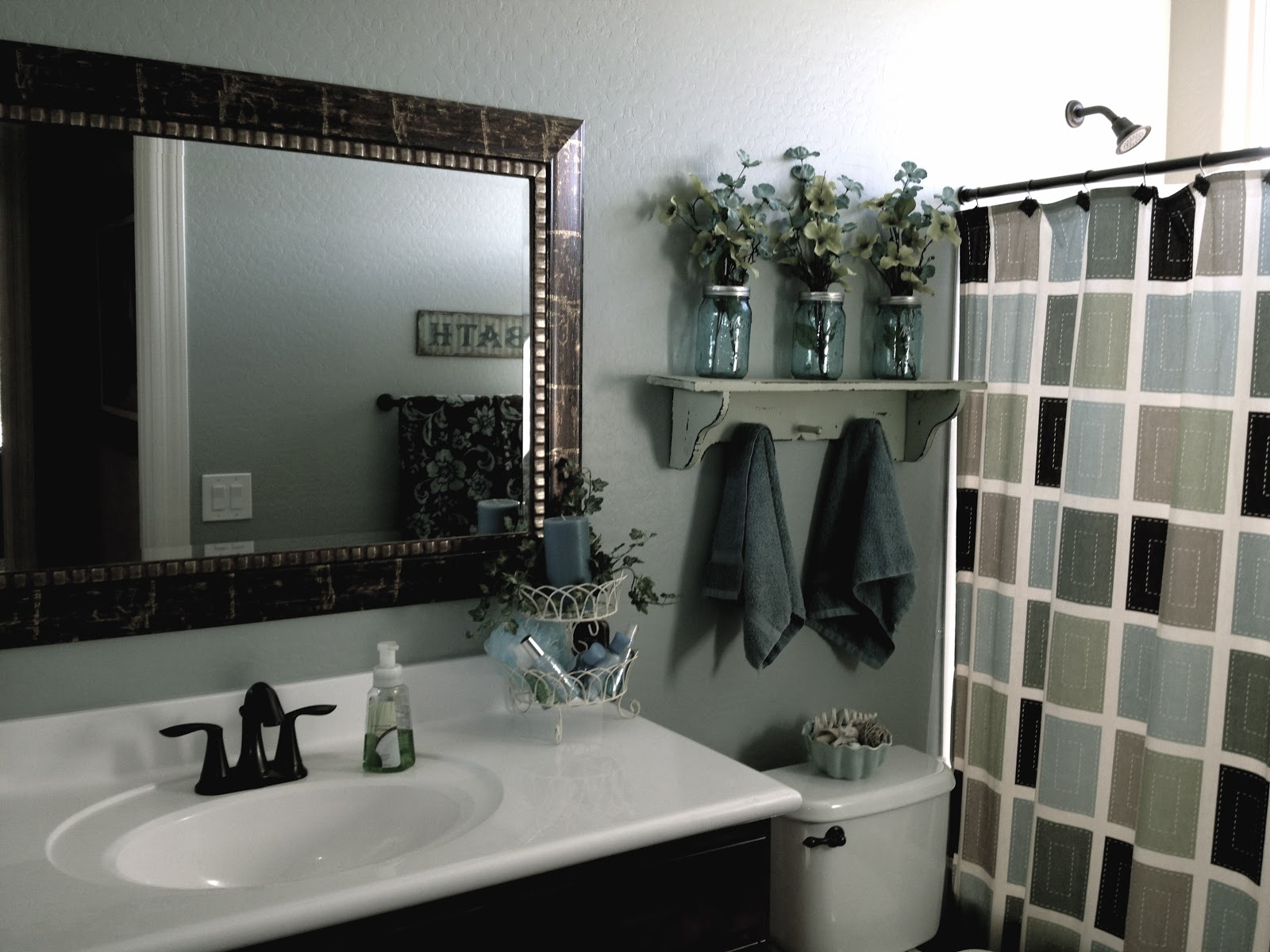 Little bit of paint mirror mirror for Small bathroom upgrade ideas