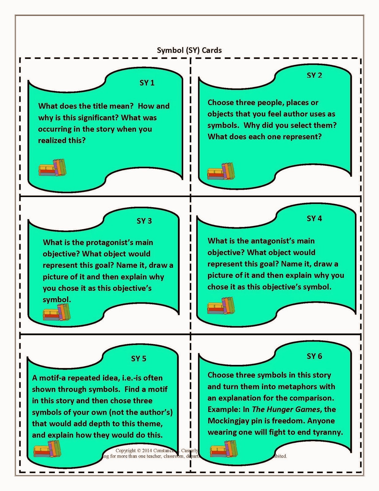 Teach It Write Literature Task Cards