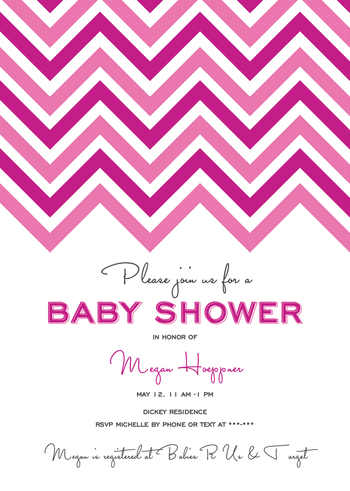 PK's Parlor: Tickled Pink Baby Shower