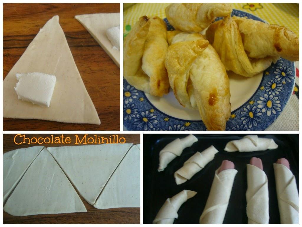 Panecillos de Hojaldre rellenos de queso crema