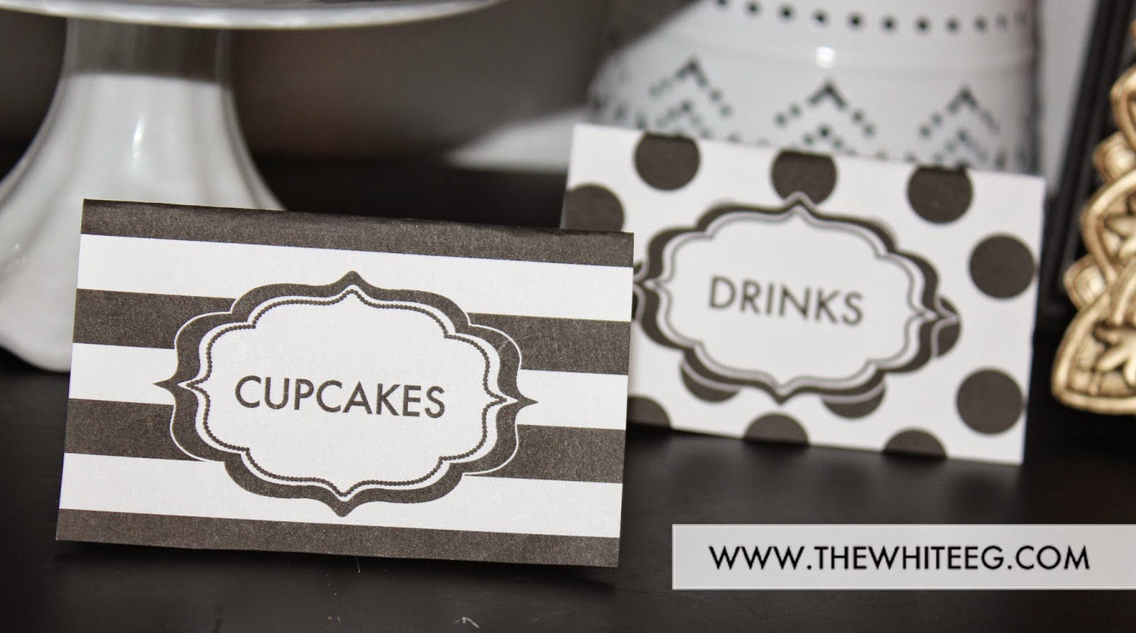 Black and white party ideas | Kate Spade Inspired DIY Party and ...