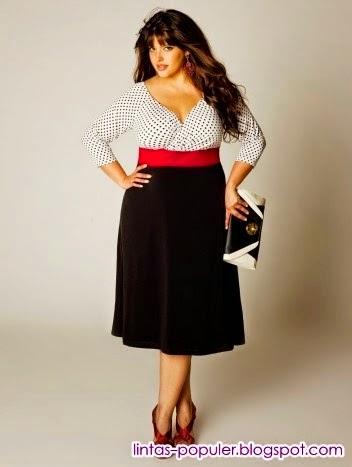 baju untuk wanita gemuk berjilbab
