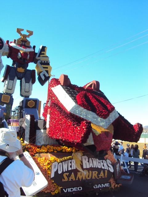 Henshin grid video power rangers samurai in the rose bowl parade - Power ranger samurai rose ...