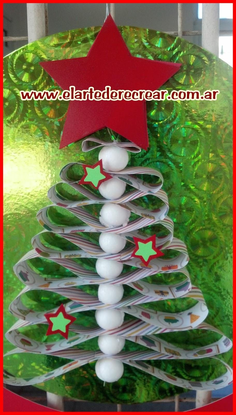 Pino navide o con papel muy f cil de hacer recrear for Menu navideno facil de hacer