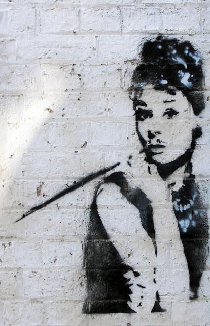 Audrey - Fitzroy Street graffiti