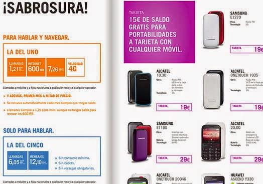 Todos los móviles de tarjeta prepago Yoigo en abril 2015