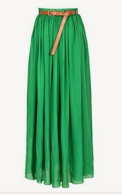 Tenue hijab jupe longue verte