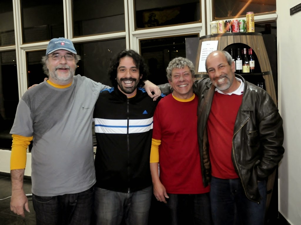 Alexandre Guichard, Helio Ratis, Ivo Ricardo e o Secretário de Cultura, Arnaldo Almeida