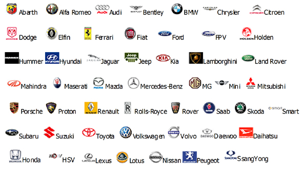 Car Brands 171 Cars