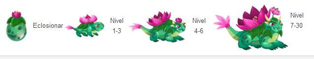 imagen de crecimiento del dragon nenufar