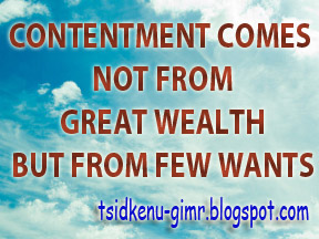 contentment, true riches, great wealth