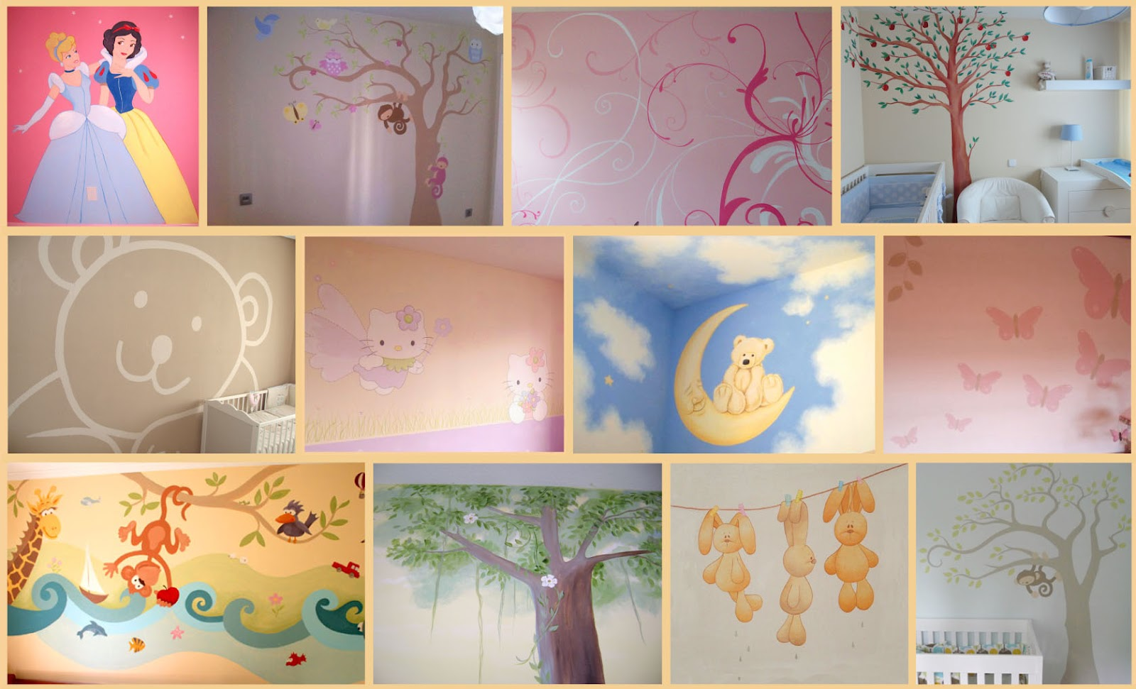 Decopared murales infantiles - Murales infantiles pintados a mano ...